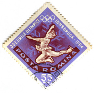 Romania Postage Stamp 1964 Olympics Figure Skating